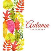 Aquarell Herbstlaub Hintergrund