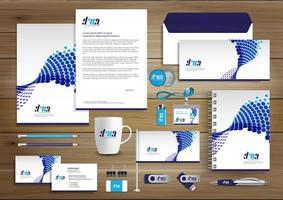 Abstrakt mall för design för företagsidentitet