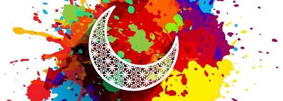 Ramadan Kareem färgglada splatter banner