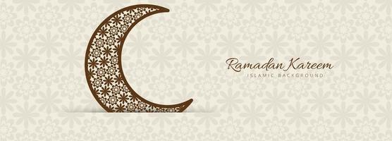 Schöne Tan Moon Ramadan Kareem Vorlage