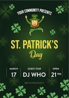 St. Patrick Holiday Party Poster und Flyer Einladung