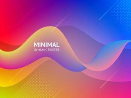 Dynamisk färgglad vibrerande våg färgrik bakgrund