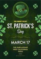 St Patrick Holiday Party-affisch och reklambladinbjudan