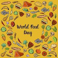 Världsmatdag med färgglada grönsaker