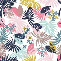 Tropisches Laub-nahtloses Muster vektor