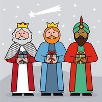 De tre kungarna i Orienten vektor