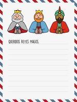 Die drei Könige von Orient Briefvorlage vektor
