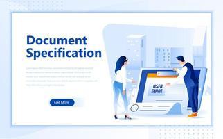 Dokumentspecifikation platt webbmallssida mall