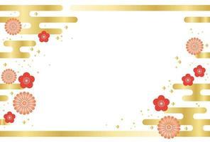 Japansk sömlös nyårs kortmall. vektor