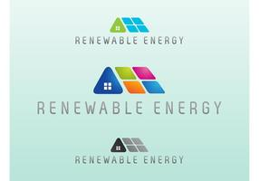 Erneuerbare Energie Vektor Logo