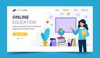 Online utbildning målsida