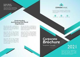 Företagsbroschyr med geometriskt blått på färg vektor