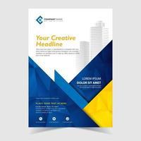 Geometrisk reklamblad vektor