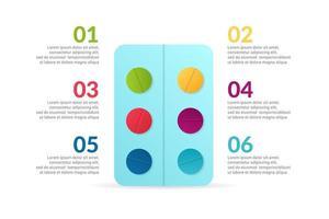 medizinische Infographik Design mit Optionen oder Liste