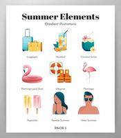 Sommer Elemente Icon Pack
