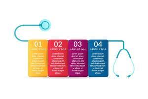 medizinische Infographik Design mit Optionen oder Liste vektor