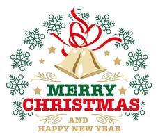 Weihnachtskennsatz auf einem weißen Hintergrund