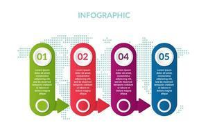 Geschäft Infografik Design mit Welt Kartenhintergrund