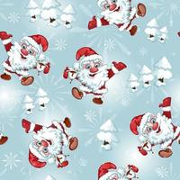 Santa Claus Seamless Pattern vektor