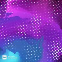 vibrierender Farbhintergrund des blauen und purpurroten Pinsels vektor