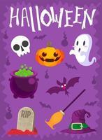 Halloween vektoruppsättning design vektor