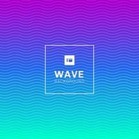 Wellenlinien Muster auf lebendige Farbe Hintergrund vektor
