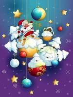 Grußkarte für Weihnachten vektor