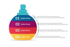 Parfüm oder Duft Infografik Design mit Optionen oder Liste vektor