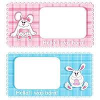 En uppsättning av två födelsedagkort för vektorbakgrund