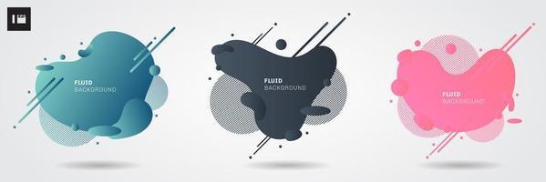Satz moderne grafische Elemente der abstrakten flüssigen Form