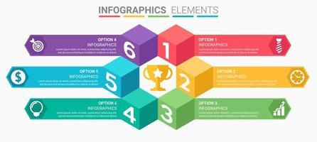 Blocknummer Infografik Design vektor