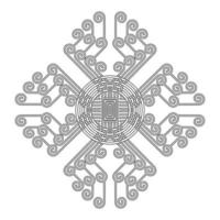 Indisches Mandalamuster vektor