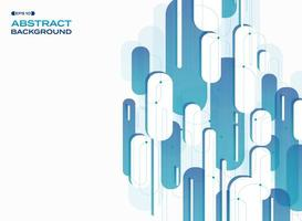 Abstraktes Technologiesteigungsblau gerundetes Pillenformmuster