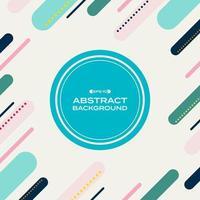 Abstraktes geometrisches Pastellmuster Memphis