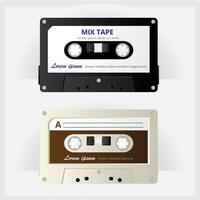 Vintage kassettbandvektorillustration