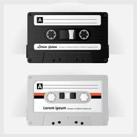 Vintage kassettbandillustration