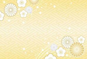 Japanska nyårs kortmall vektor