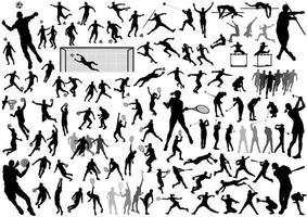 Sportsilhouette vektor