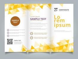 Geometriska gula trianglar för mall för broschyrlayoutdesign