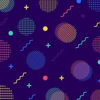 Färgglada sömlösa geometriska mönster i retro 80-talstil. vektor