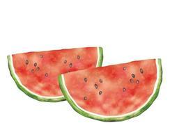 Aquarell Wassermelonen schneiden