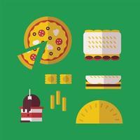 Italiensk typisk mat vektor