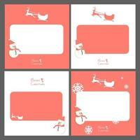 Set Weihnachtsgrußkarten