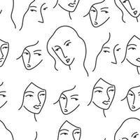 Frauen kritzelte Gesichter vektor