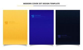 Uppsättning abstrakta linjer mönster minimal täcker design vektor