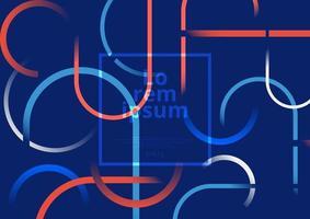 Kreis und runde Linien bunter Hintergrund