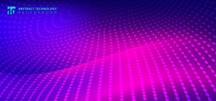 Radialpunktmuster der futuristischen Technologie auf Bewegung verwischte Welle