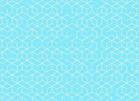 Abstrakt kubmodell på blå bakgrund