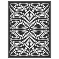 Verziertes ineinandergreifendes Holz schnitzte Effektlinien Muster