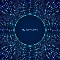 Glühendes Punktmuster der blauen futuristischen modernen Technologie